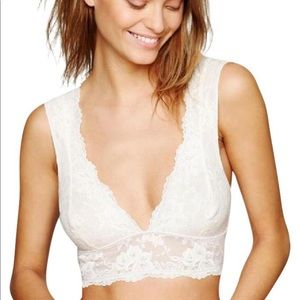 Free People Gallon Lace Deep V Bralette
